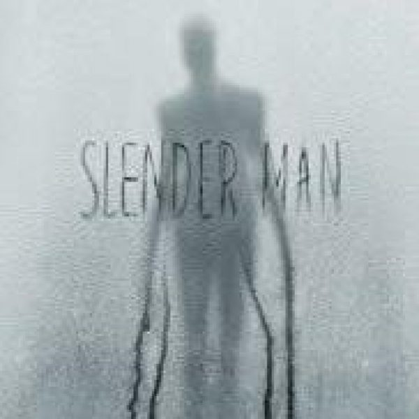Slender Man showing sinister shadow figure with long tentacles for arms