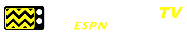 afterbuzz tv the espn of tv talk! with an image of a tv with jagged black and yellow screen