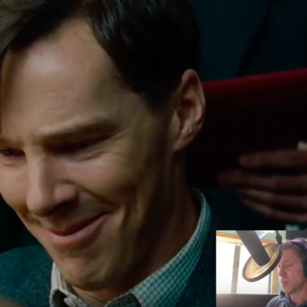 an image of benedict cummerbatch with a picture in picture of a man speaking into a microphone