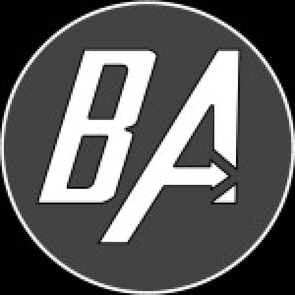 Blind Abilities logo, the letters B and A within a circle