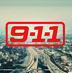 9-1-1 in red text above the freeways of Los Angeles