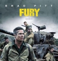 Fury Poster with Tank and Cast inc. Brad Pitt