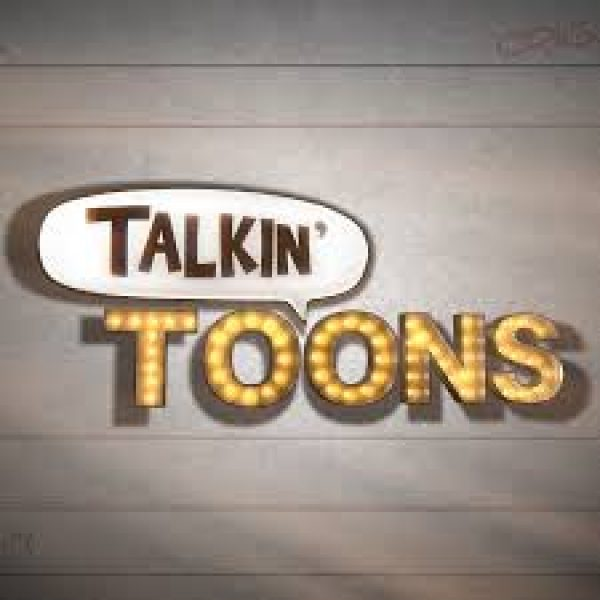 talkin' toons, talkin' in a comic bubble and toons in theater lights
