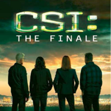 CSI the finale showing the darkened backs of 4 cast members