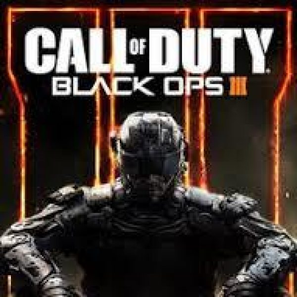 Call Of Duty Black Ops III game cover with ominous looking seated figure