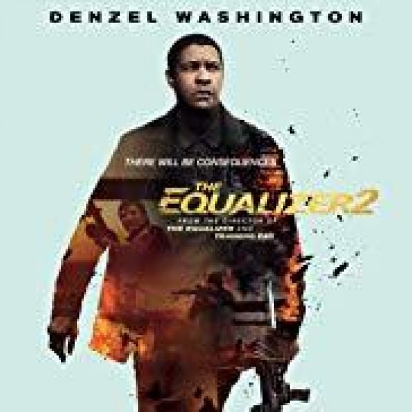 The Equalizer 2 star Denzel Washington holding a rifle in his left hand