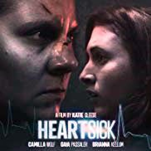 Heartsick showing closeups of lead actors Camilla Wolf Bodin and Gaia Passaler