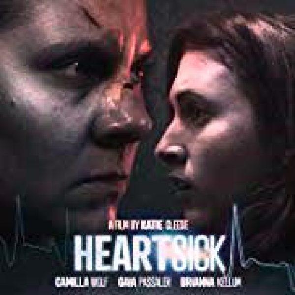 Heartsick showing closeups of lead actors Camilla Wolf Bodin and Gaia Passaler