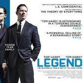 Legend with star Tom Hardy as one of the twin brothers in the story