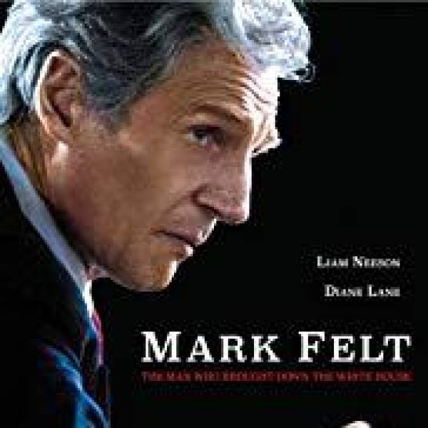 Mark Felt showing lead actor Liam Neeson in profile as Felt