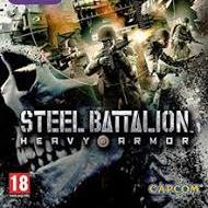 Steel Battalion: Heavy Armor video game cover showing soldiers in action during war