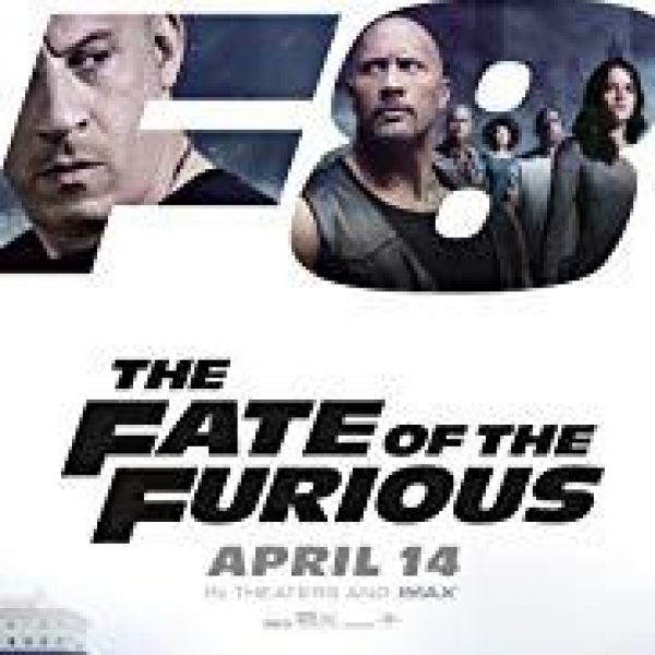 The Fate Of The Furious poster showing stars Vin Diesel and Dwayne Johnson