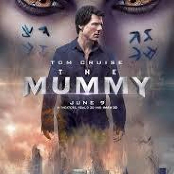 The Mummy poster with star Tom Cruise and eerie Egyptian images