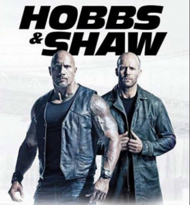 Hobbs & Shaw with the two characters 3/4 shot