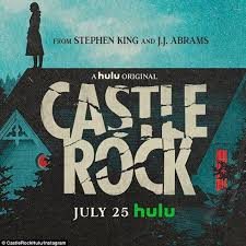 a shadow of a woman on a cliff, which reads Castle Rock.
