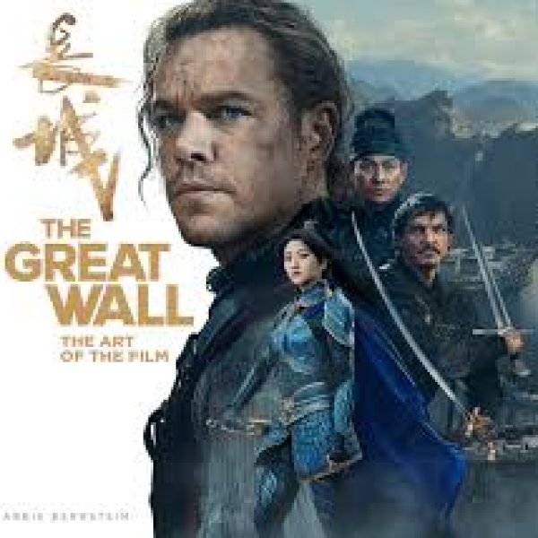 "Chinese characters above the title ""The Great Wall"" - an image of Matt Damon with other characters with swords"