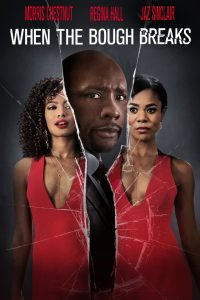 Three leading actors pictured in broken glass.