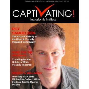 cover of Captivating Magazine with Roy's headshot