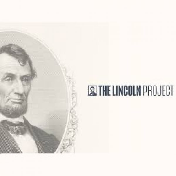 "An image of Abraham Lincoln from the $5 bill ""The Lincoln Project"""